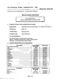 California Steel Industries, Inc. Effective Date: April 29, 2005