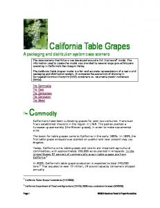 California Table Grapes A packaging and distribution system case scenario