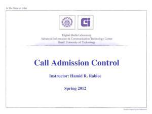 Call Admission Control