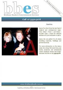 Call Amica. We know Entertainment