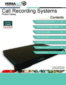Call Recording Systems
