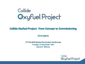 Callide Oxyfuel Project: From Concept to Commissioning