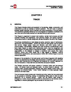 CALTRAIN DESIGN CRITERIA CHAPTER 2 - TRACK CHAPTER 2 TRACK