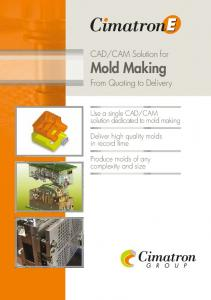 CAM solution dedicated to mold making