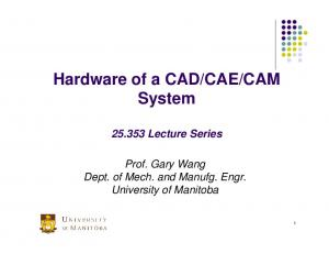 CAM System Lecture Series