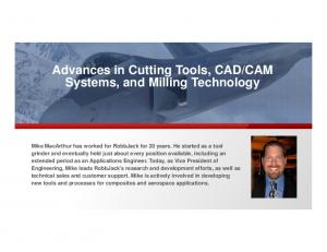 CAM Systems, and Milling Technology