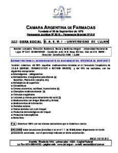 CAMARA ARGENTINA DE FARMACIAS