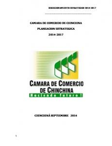 CAMARA DE COMERCIO DE CHINCHINA PLANEACION ESTRATEGICA