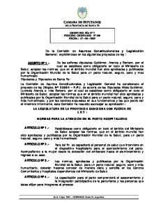 CAMARA DE DIPUTADOS DE LA PROVINCIA DE SANTA FE