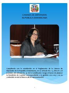 CAMARA DE DIPUTADOS REPUBLICA DOMINICANA