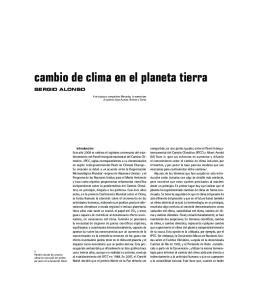 cambio de clima en el planeta tierra SERGIO ALONSO