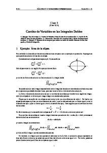 Cambio de Variables en las Integrales Dobles