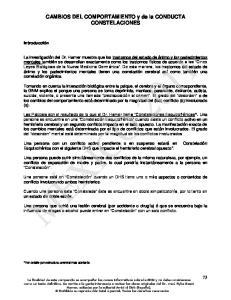 CAMBIOS DEL COMPORTAMIENTO y de la CONDUCTA CONSTELACIONES