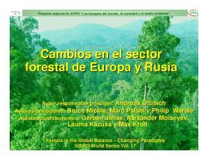Cambios en el sector forestal de Europa y Rusia