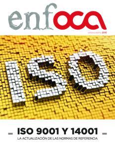 CAMBIOS EN ISO 9001 E ISO 14001