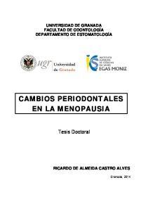 CAMBIOS PERIODONTALES EN LA MENOPAUSIA
