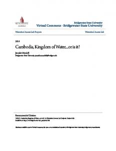 Cambodia, Kingdom of Water...or is it?