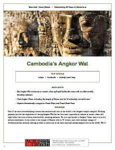 Cambodia s Angkor Wat