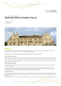 Cambridge Advanced Studies Program