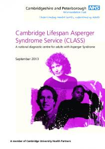 Cambridge Lifespan Asperger Syndrome Service (CLASS)