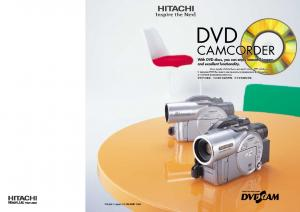 CAMCORDER The DVD Camcorder records beautifully and is easy to use