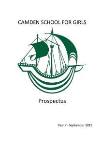 CAMDEN SCHOOL FOR GIRLS. Prospectus