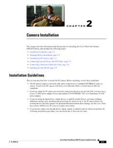 Camera Installation. Installation Guidelines CHAPTER