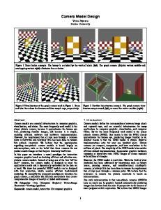 Camera Model Design. Voicu Popescu Purdue University