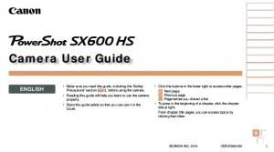Camera User Guide ENGLISH. Basic Guide. Advanced Guide