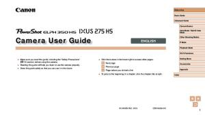 Camera User Guide ENGLISH