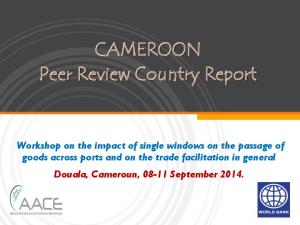 CAMEROON Peer Review Country Report