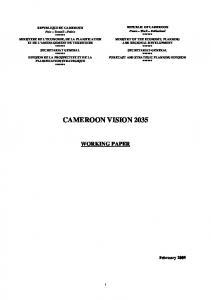 CAMEROON VISION 2035
