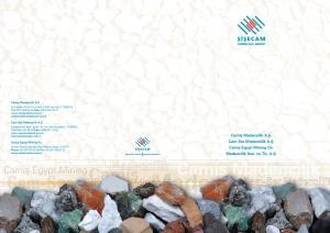Camifl Madencilik A.fi. Cam-Ser Madencilik A.fi. Camifl Egypt Mining Co. Madencilik San. ve Tic. A.fi