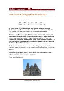 Camino de Santiago (Camino Francés)