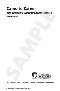 Camo to Career The Veteran s Guide to Career Success