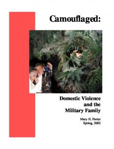 Camouflaged: Domestic Violence and the Military Family