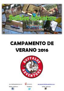 CAMPAMENTO DE VERANO 2016