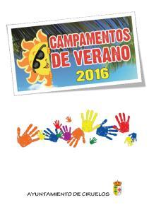 CAMPAMENTO DE VERANO CIRUELOS 2016