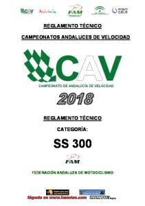 CAMPEONATOS ANDALUCES DE VELOCIDAD