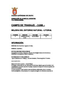 CAMPO DE TRABAJO