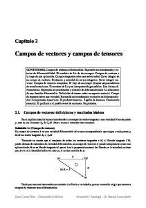 Campos de vectores y campos de tensores. Campos de vectores y campos de tensores