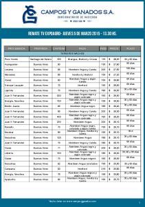CAMPOS Y GANADOS S.A. CONSIGNATARIOS DE HACIENDA