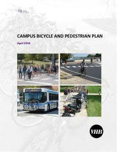 CAMPUS BICYCLE AND PEDESTRIAN PLAN. April 2014