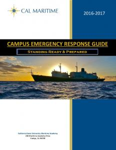 CAMPUS EMERGENCY RESPONSE GUIDE