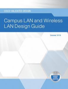 Campus LAN and Wireless LAN Design Guide
