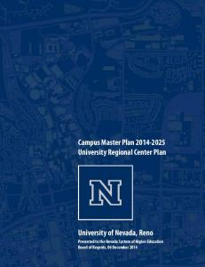 Campus Master Plan University Regional Center Plan