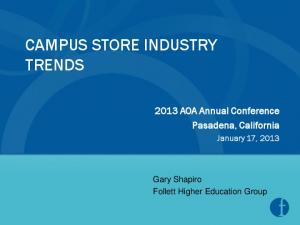 CAMPUS STORE INDUSTRY TRENDS