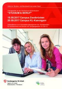 Campus Zweibrücken Campus KL-Kammgarn