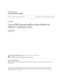Can an EKG prevent sudden cardiac death in an athlete? A systematic review