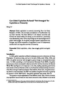 Can Global Capitalism Be Saved? Exit Strategies for